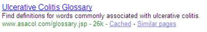 Colitis Glossary